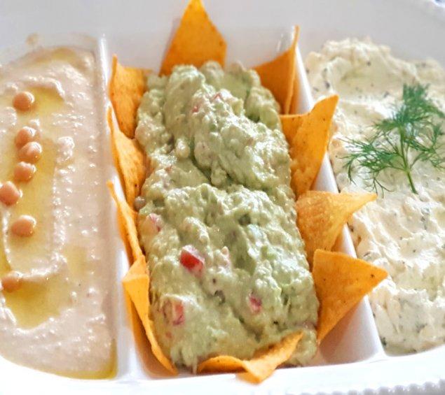 Verschiedene Fingerfood Dips