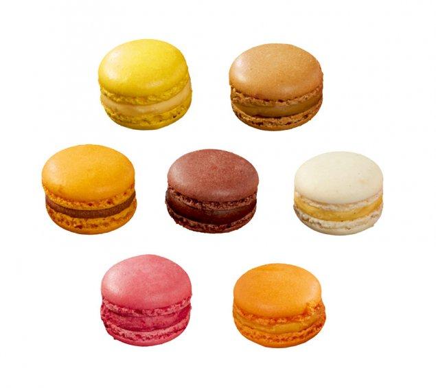 Mini Macarons in 6 Sorten
