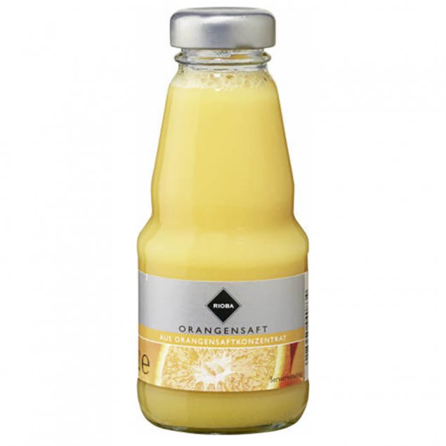 Orangen-Saft  RIOBA 0,2 l Glasflasche