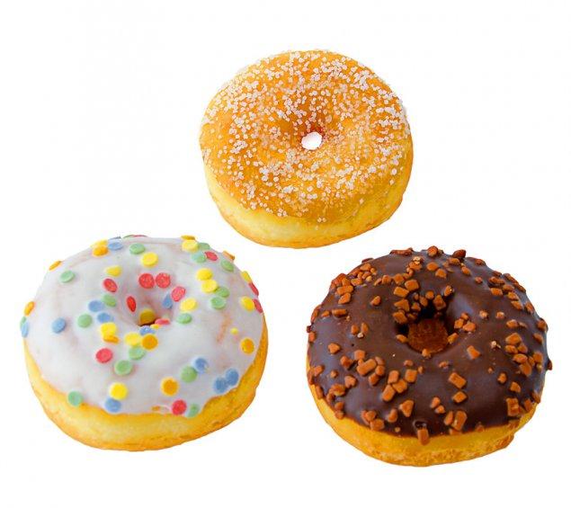 Mini Donut in drei Sorten